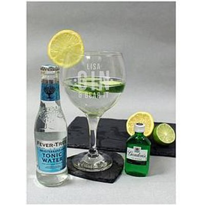 Signature Gifts Personalised Gin &Amp; Bear It Glass With Miniature Gin &Amp; Mixer