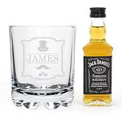 Signature Gifts Personalised Gentlemans Glass With A Miniature Whisky &Amp; Coke In A Gift Tin