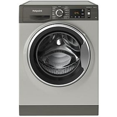 Hotpoint Active Care Nm11945Gcaukn 9Kg Load, 1400 Spin Washing Machine - Graphite