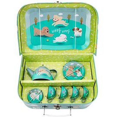 Sass & Belle Sass And Belle Dog Picnic Tea Set In Carrycase