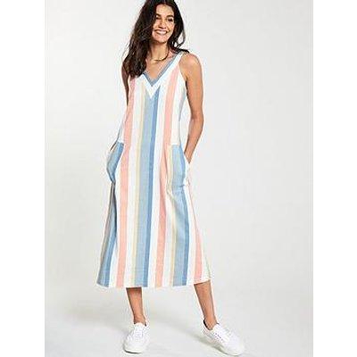 Boss Anamy Sleeveless Stripe Midi Dress - Patterned