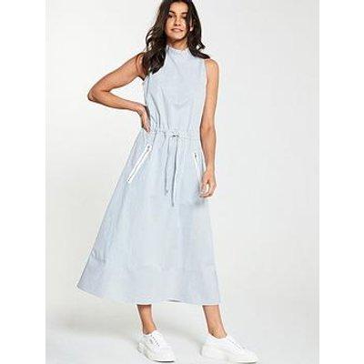 Boss Cassina Stripe Midi Dress - Blue