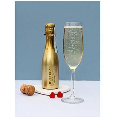 Signature Gifts Personalised Champagne Glass With 200Ml Bottega Prosecco