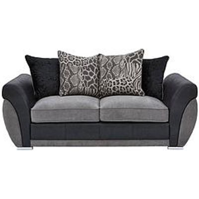 Hilton Fabric And Faux Leather Scatter Back Sofa Bed