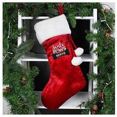 Personalised Santa Paws Christmas Dog Stocking