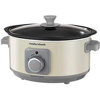 Morphy Richards Evoke 3.5-Litre Manual Slow Cooker - Cream