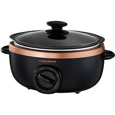 Morphy Richards Evoke 3.5-Litre Manual Slow Cooker - Black/Rose Gold