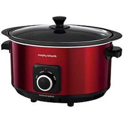Morphy Richards Evoke 6.5-Litre Manual Slow Cooker - Red