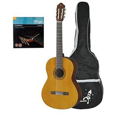 Yamaha C40Ii Full Size Classical Guitar - Natural With Free Online Music Lessons