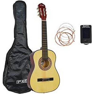 3Rd Avenue 1/2 Size Classical Guitar Pack - Natural With Free Online Music Lessons