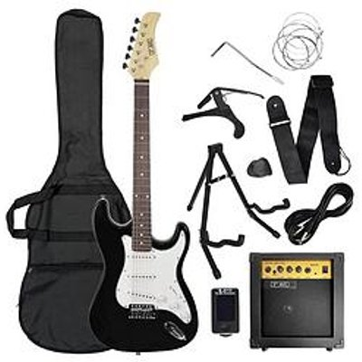 Rocket Rocket Electric Guitar Pack In Black With Free Online Music Lessons