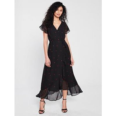 Whistles Heart Embroidered Maxi Dress