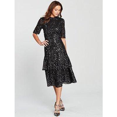 Whistles Ivanna Sequin Dress - Black Multi