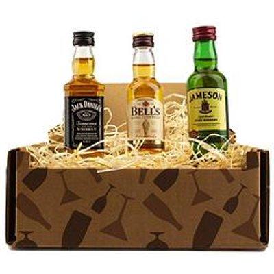 Miniature Whisky Trio Gift Box - Jack Daniels, Bells Whisky And Jamesons Irish