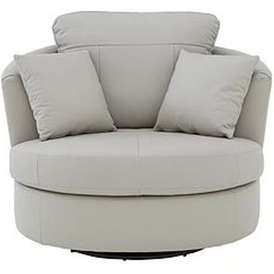 Merkle Leather/Faux Leather Swivel Chair