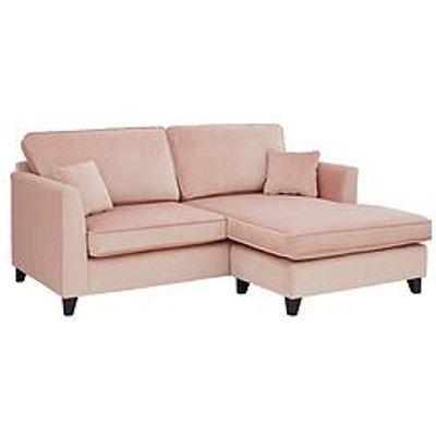 New Dante Fabric 3 Seater Reversible Chaise Sofa