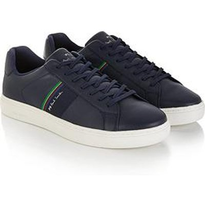 Ps Paul Smith Men'S Rex Leather Trainers - Navy