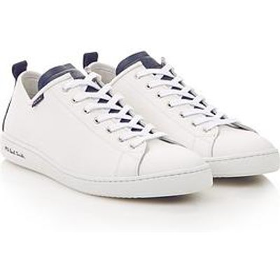 Ps Paul Smith Men'S Miyata Contrast Leather Trainers - White