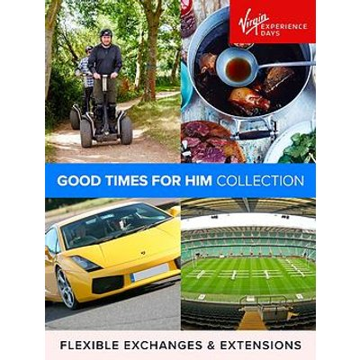 Virgin Experience Days Good Times For Him With A Choice Of Over 160 Experiences And Locations