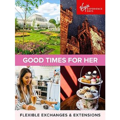 Virgin Experience Days Good Times For Her With A Choice Of Over 160 Experiences And Locations