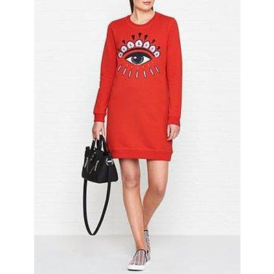 Kenzo Classic Eye Sweatshirt Dress - Red