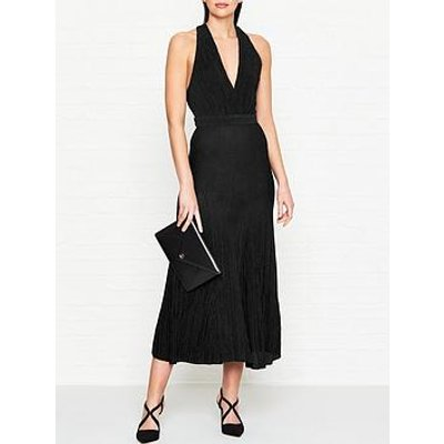 Bec & Bridge Electric Boogie Lurex Plunge Dress - Black