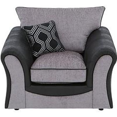 Milan Faux Leather And Fabric Armchair