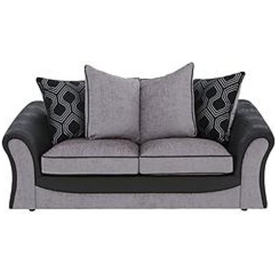 Milan Faux Leather And Fabric Scatter Back Sofa Bed