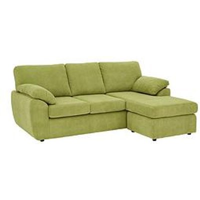 Dixie Fabric 3 Seater Reversible Corner Chaise Sofa