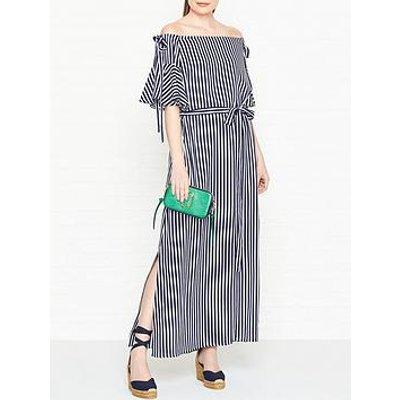 Hugo Kabowy Bardot Striped Dress - Navy/White