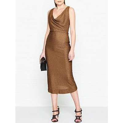 Vivienne Westwood Anglomania Virginia Glitter Jersey Dress - Copper