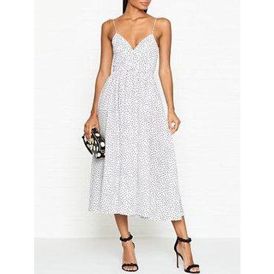 Bec & Bridge Miss Frenchie Polka Dot Midi Dress - White