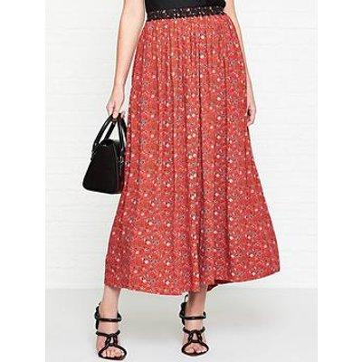 Vivienne Westwood Anglomania Magda Liberty Print Maxi Skirt - Red