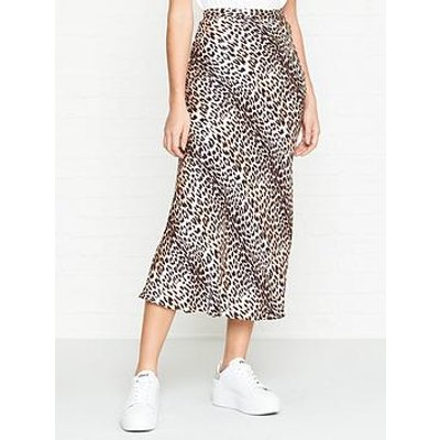 Bec & Bridge Feline Leopard Print Midi Skirt - Leopard