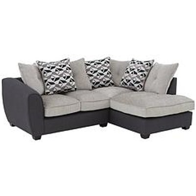 Juno Fabric Compact Right Hand Corner Chaise Scatter Back Sofa