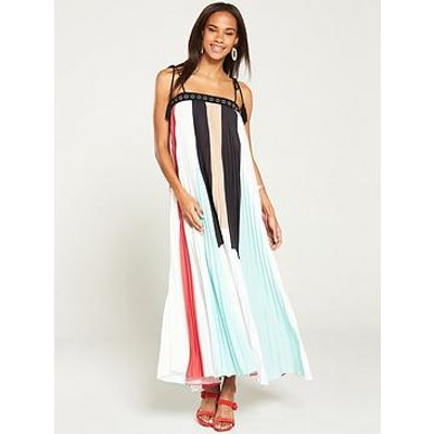 V By Very Colour Block Pleated Maxi