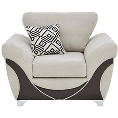 Diaz Fabric And Faux Leather Armchair