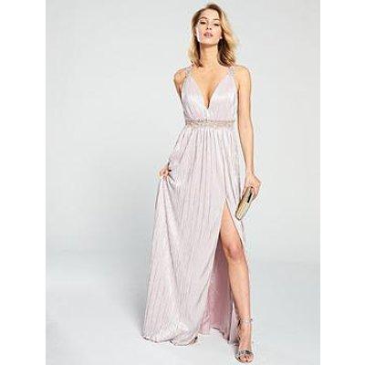 Forever Unique Elle Waist Detail Maxi Dress - Nude