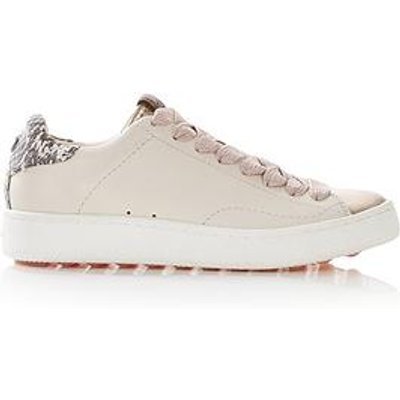Coach C101 Snake Print Low Top Trainers - Cream