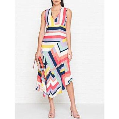 Ps Paul Smith Zig Zag Stripe Dress-Multi
