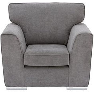 Martine Fabric Armchair - Charcoal