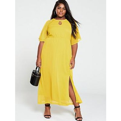 Junarose Cape Sleeve Maxi Dress - Yellow