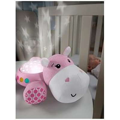 Fisher-Price Hippo Cuddle Projection Soother - Pink