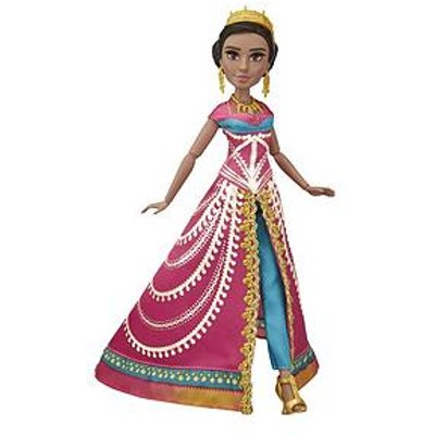 Disney Aladdin Glamorous Jasmine Deluxe Fashion Doll With Gown, Shoes, And Accessories