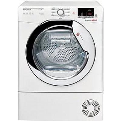 Hoover Dynamic Next Dxwh11A2Dcexm 11Kg Load, Aquavision, Heat Pump Condenser Tumble Dryer - White