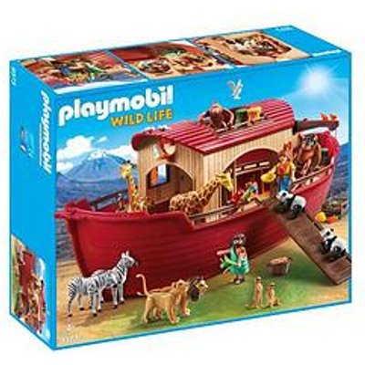 Playmobil Playmobil 9373 Wild Life Floating Noah'S Ark With Functioning Crane