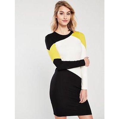 Karen Millen Graphic Colour Block Dress - Multi