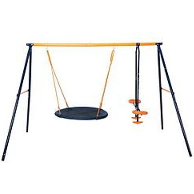 Hedstrom Nest Swing &Amp; Glider Outdoor Multiplay Set