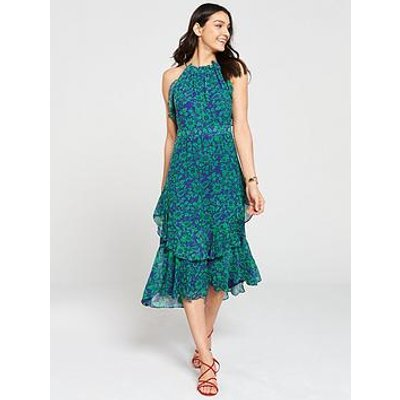 Whistles Devina Henna Print Dress - Green Multi