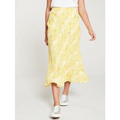 Whistles Python Print Bias Cut Skirt - Yellow/Multi